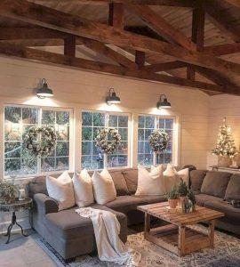 Como decorar salas navideñas con estilo rústico