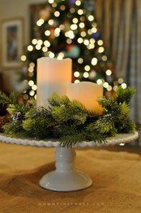 Como hacer centros de mesa navideños