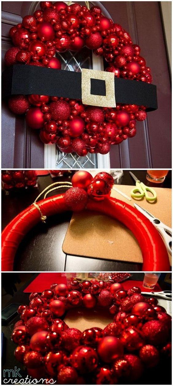 Como hacer coronas navideñas