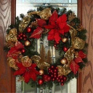 coronas navideñas tradicionales