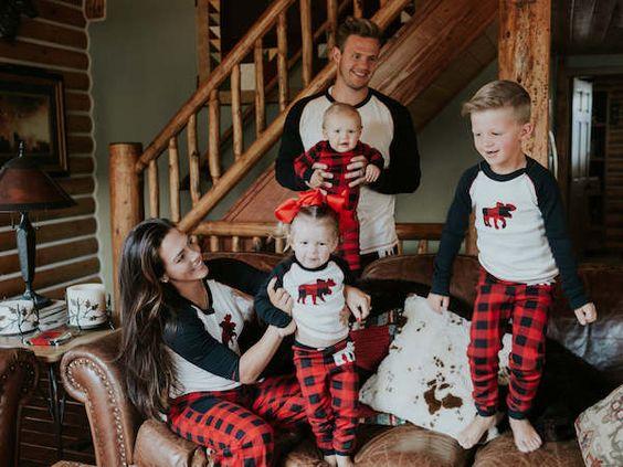 Pijamas con cuadros escoceses