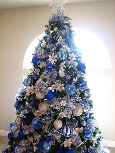 Decora la navidad con color azul - Como se decora un arbol de navidad ...