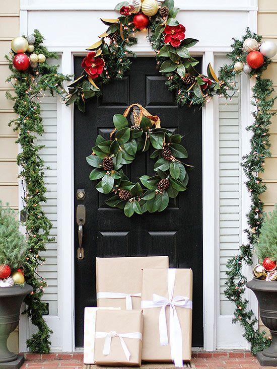 Decoración de entradas navideñas