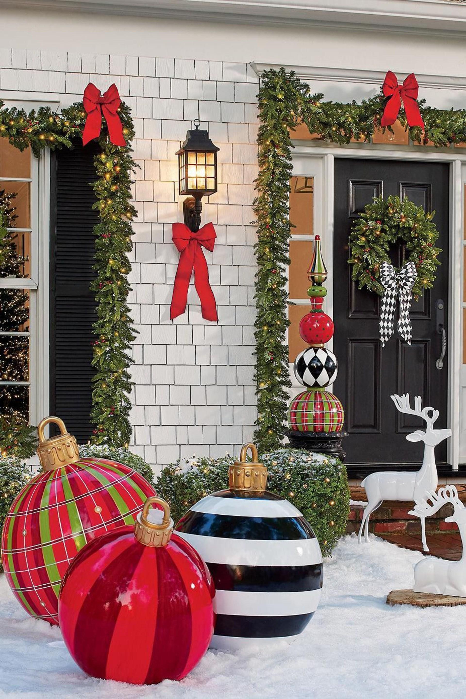 ideas para navidad Decoracin Del Jardn Para Navidad Con Luces Como