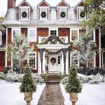 Decoración del jardín para navidad 2017