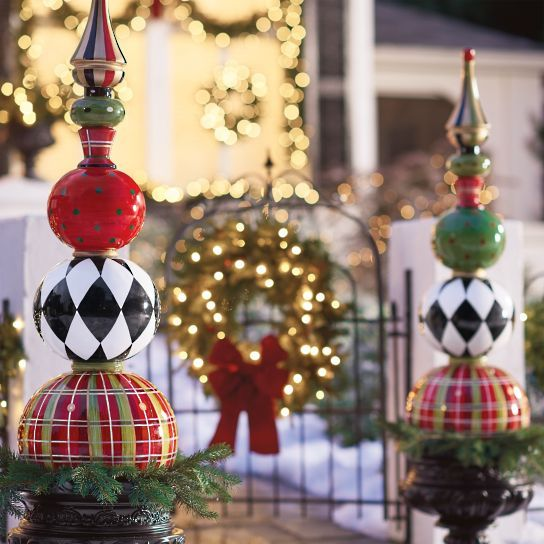 Decoración del jardín para navidad originales