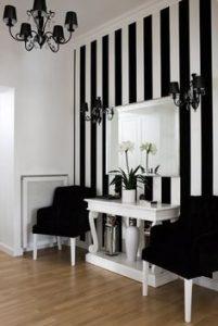 Decoración de interiores con rayas