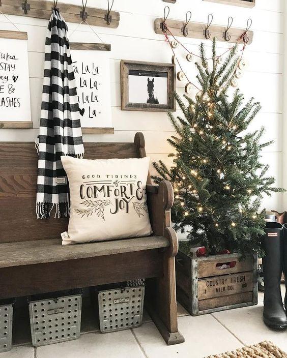 Decoración navideña 2017 con estilo rústico