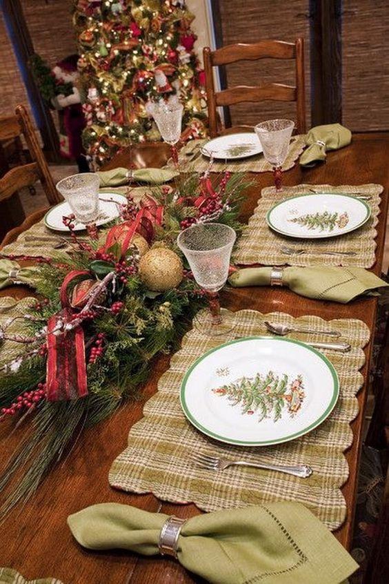Decoración navideña de comedores