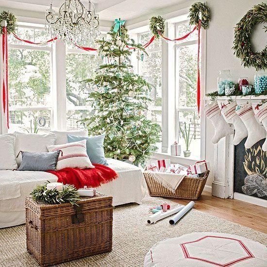 Decoracion navideña para sala