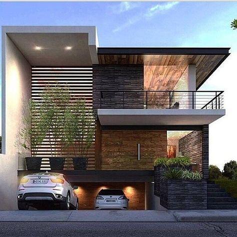 diseno y estilo de fachadas de casas modernas (2)