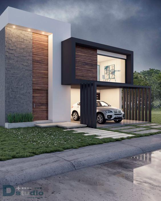 diseno y estilo de fachadas de casas modernas (4)