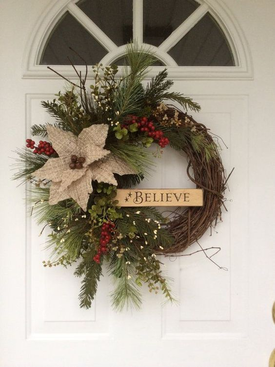 How To Decorate A Grapevine Wreath For Christmas