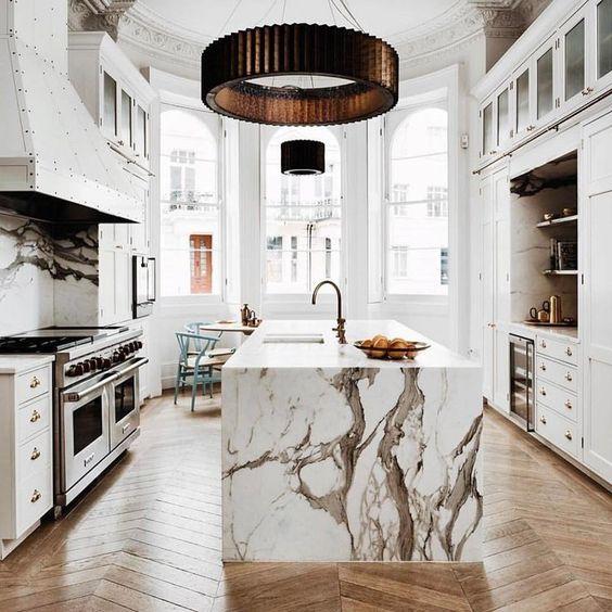 encimeras-marmol-cocina (8) | Decoracion de interiores Fachadas para ...