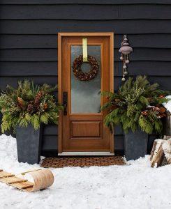 Entradas navideñas con estilo rústico