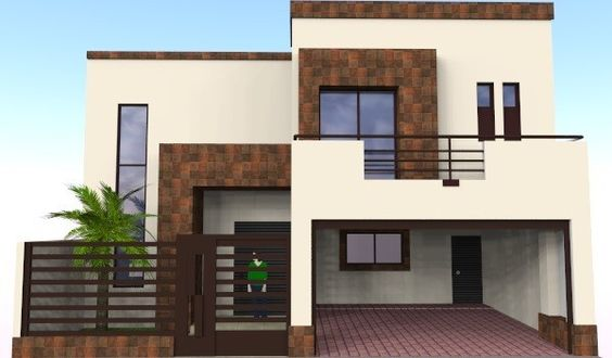 fachada con dos puertas de garage (2)