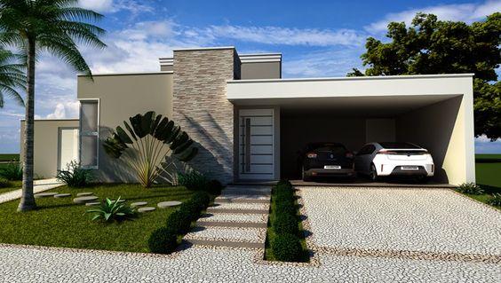fachada con filetes de piedra