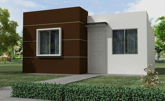 fachada con pintura marron y blanca