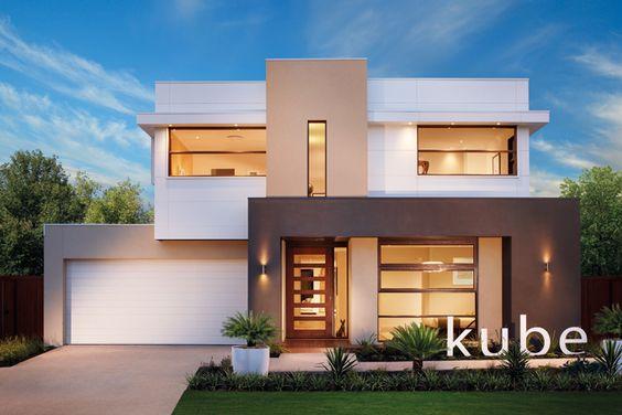 fachada con pintura marron y blanca (3)