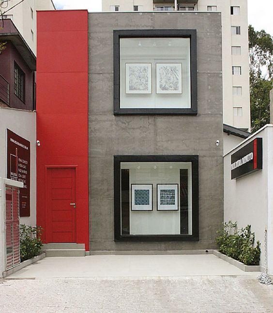 fachada con placas de concreto