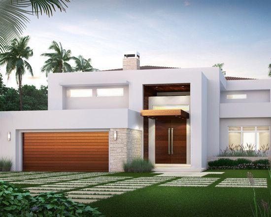 fachada con puerta de garage (3)