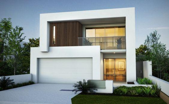 fachada con puerta de garage
