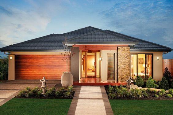 fachada con tejas de hormigon