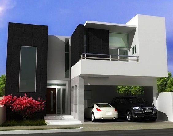 fachada de casa baja negra