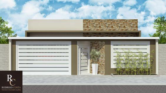 fachada de casa pequena con detalles en pintura marron (3)