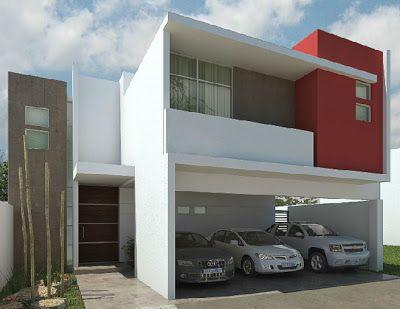 fachada de casa pequena con entrada en pintura roja (3)