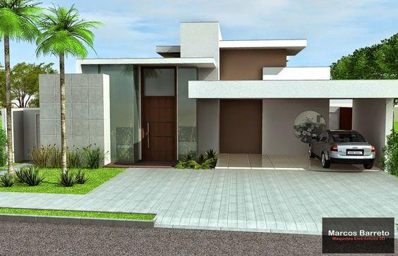 fachada de casa pequena con garage abierto (4)