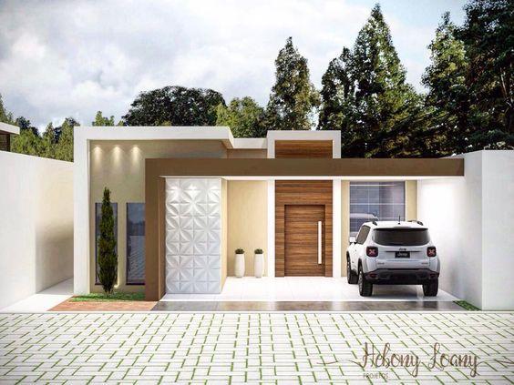 fachada de casa pequena con garage abierto (5)