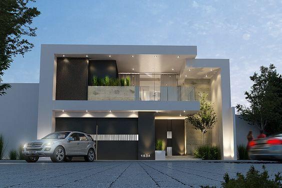 fachada de casa pequena con ladrillo y pintura blanca (3)