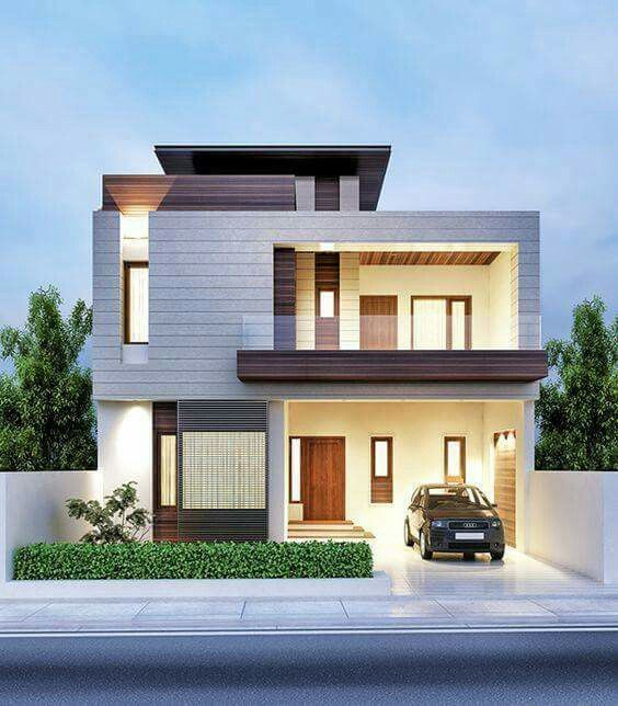 fachada de casa pequena con ladrillo y pintura blanca (5)
