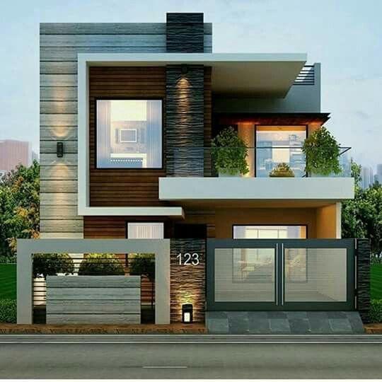 fachada de casa pequena con marco de madera en las ventanas (2)