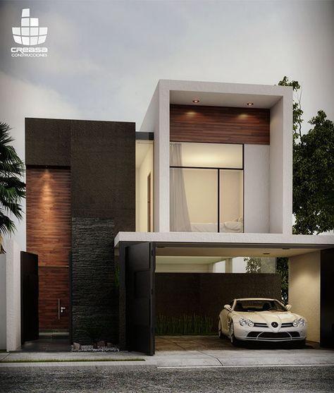 fachada de casa pequena con puerta y ventanas de madera (2)