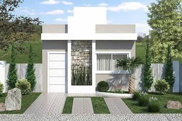 fachada de casa pequena en piedra
