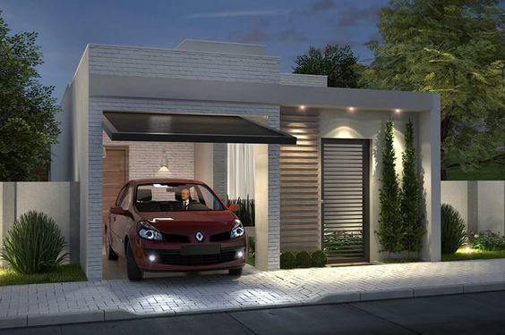 fachada de casa pequena sin muro residencial (2)
