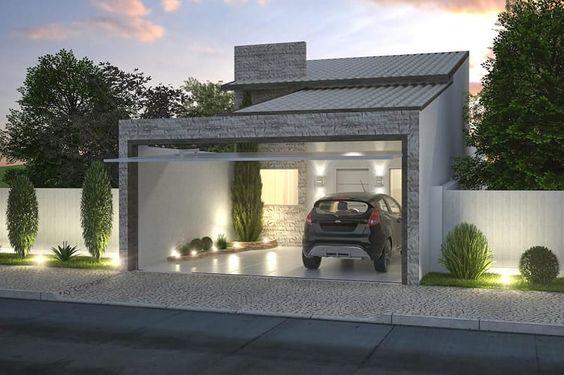 fachada de casa pequena sin muro residencial (3)