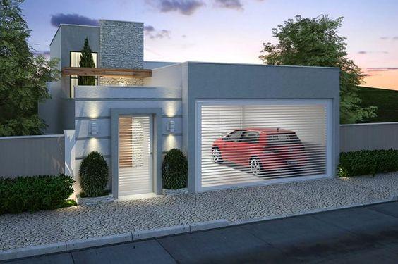 fachada de casa pequena sin muro residencial