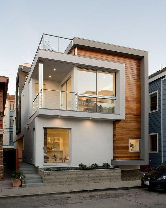 fachada de casa sencilla con balcon (4)