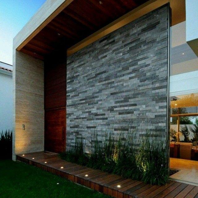 Fachadas y dise os de casas 2019 2020 for Piedras para fachadas minimalistas