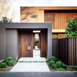 fachada de casa sencilla con dos suelos (3)