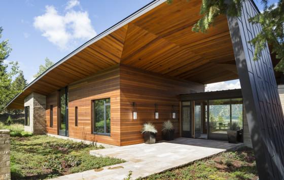 fachada de casas de madera