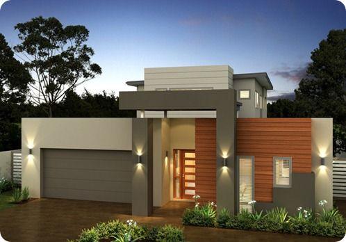 fachada gris con detalle en madera (3)