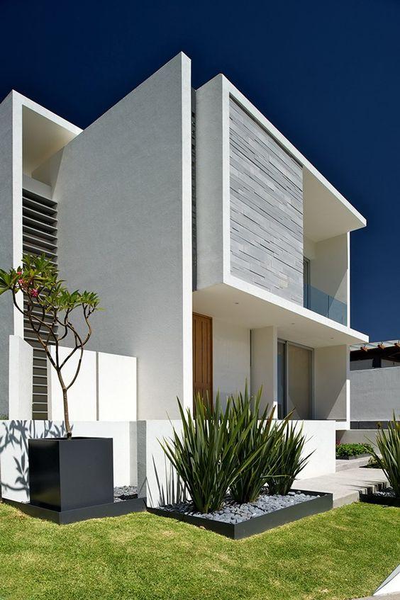 fachadas con colores neutros