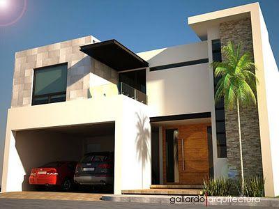 fachadas de casas con madera y muro de piedra (3)