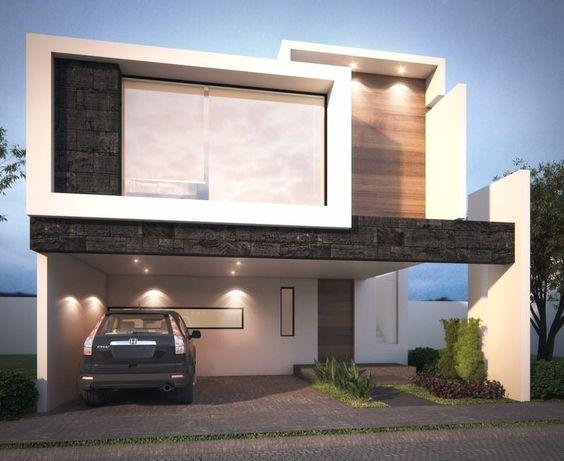 Fachadas de casas con vidrio 3 decoracion de for Departamentos minimalistas fachadas