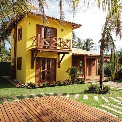 fachadas de casas de campo