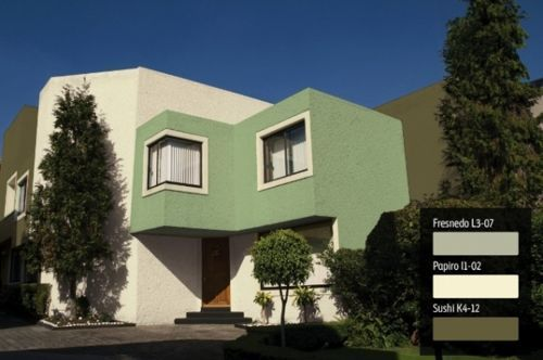 fachadas de casas en color verde (2)